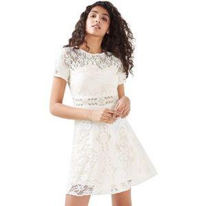Topshop White Floral Lace Dress 12